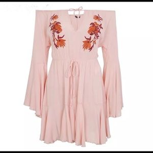 Pants - Pink floral romper, size Small